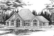 Traditional Style House Plan - 4 Beds 3 Baths 2279 Sq/Ft Plan #120-124 Exterior - Front Elevation