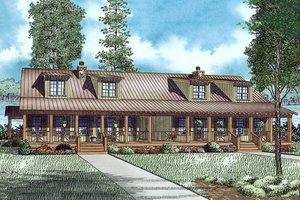 House Design - Country Exterior - Front Elevation Plan #17-2564