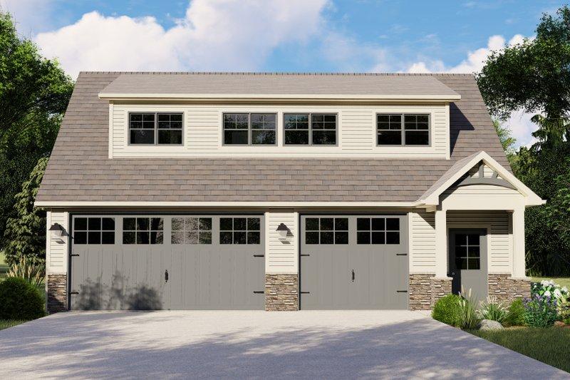 Dream House Plan - Craftsman Exterior - Front Elevation Plan #1064-91