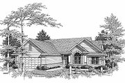 Traditional Style House Plan - 3 Beds 2.5 Baths 1695 Sq/Ft Plan #70-174 Exterior - Front Elevation