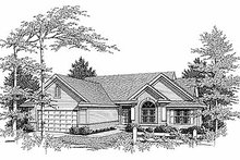 Architectural House Design - Traditional Exterior - Front Elevation Plan #70-174