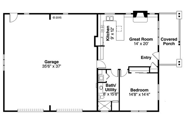 Craftsman Floor Plan - Main Floor Plan Plan #124-989