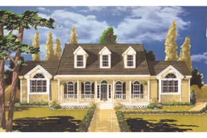 Country Exterior - Front Elevation Plan #3-252