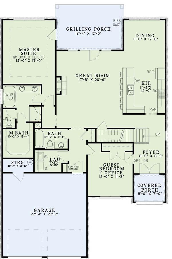 European Floor Plan - Main Floor Plan Plan #17-2613