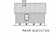 Cottage Exterior - Rear Elevation Plan #22-122