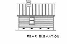 House Design - Cottage Exterior - Rear Elevation Plan #22-122