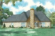 Country Style House Plan - 4 Beds 4.5 Baths 2688 Sq/Ft Plan #17-2608 Exterior - Rear Elevation