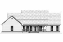 Farmhouse Exterior - Rear Elevation Plan #21-313