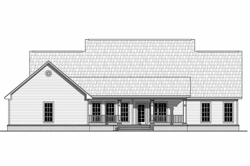 Farmhouse Exterior - Rear Elevation Plan #21-313 - Houseplans.com