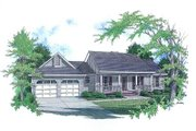 Country Style House Plan - 3 Beds 2 Baths 1458 Sq/Ft Plan #14-132