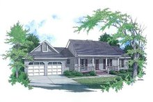 House Plan Design - Country Exterior - Front Elevation Plan #14-132