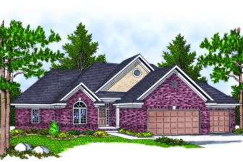 European Exterior - Front Elevation Plan #70-803 - Houseplans.com