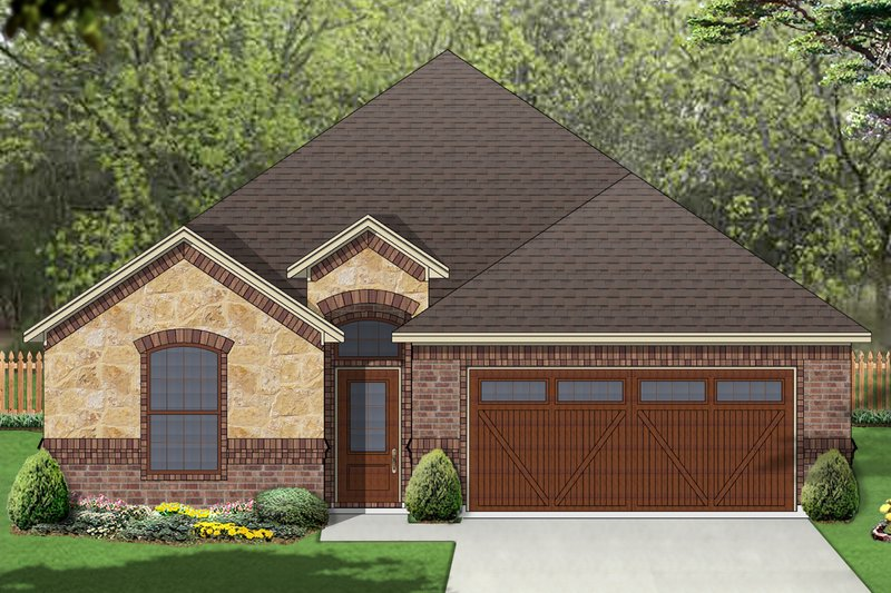 Dream House Plan - European Exterior - Front Elevation Plan #84-584