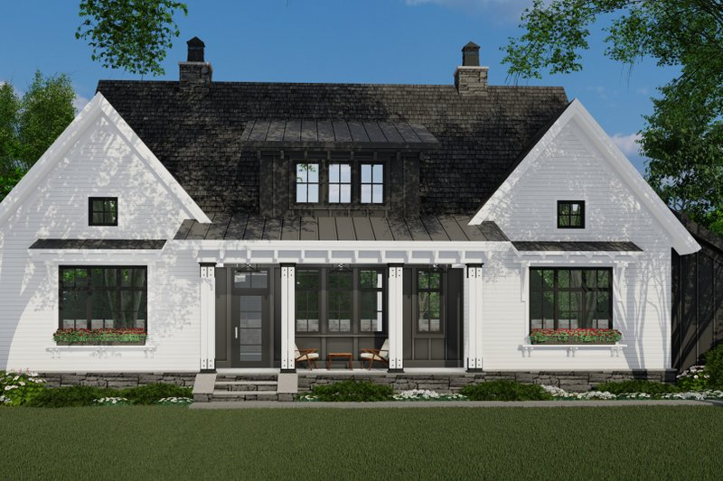 Farmhouse Style House Plan - 3 Beds 2.5 Baths 2467 Sq/Ft Plan #51-1152 Exterior - Front Elevation