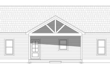 Cabin Exterior - Front Elevation Plan #932-57