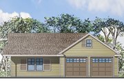 Traditional Style House Plan - 1 Beds 1 Baths 1275 Sq/Ft Plan #124-942