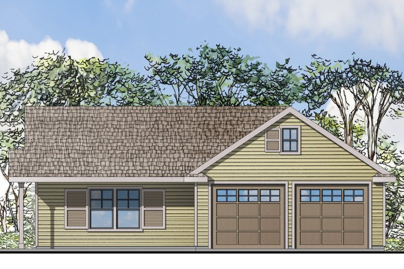 Traditional Style House Plan - 1 Beds 1 Baths 1275 Sq/Ft Plan #124-942 Exterior - Front Elevation