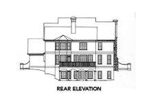 European Exterior - Rear Elevation Plan #429-17