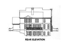 European Exterior - Rear Elevation Plan #429-17
