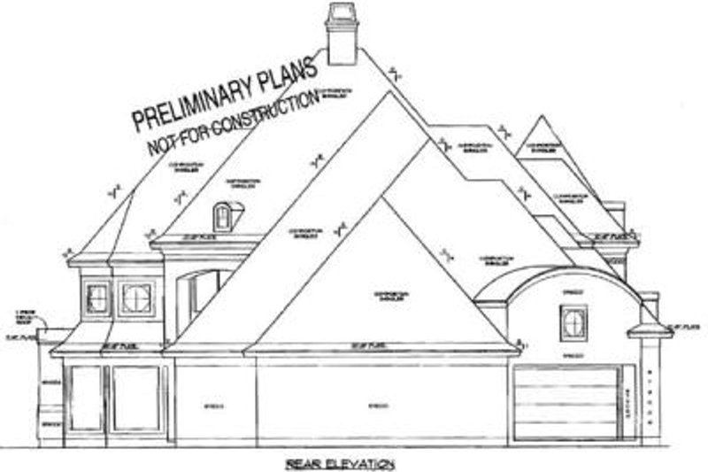 European Exterior - Rear Elevation Plan #61-143 - Houseplans.com