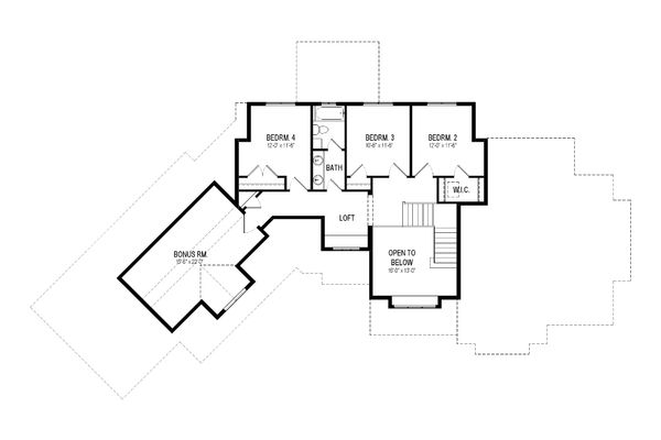 Craftsman Floor Plan - Upper Floor Plan Plan #920-10
