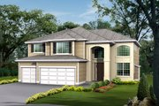 Traditional Style House Plan - 4 Beds 2.5 Baths 3260 Sq/Ft Plan #132-151 Exterior - Front Elevation