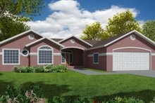 Home Plan - Country Exterior - Front Elevation Plan #437-24