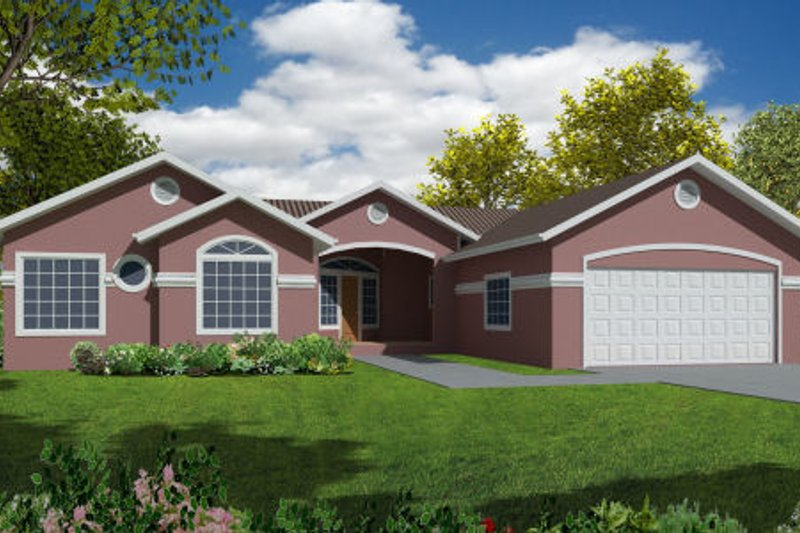 Country Exterior - Front Elevation Plan #437-24 - Houseplans.com