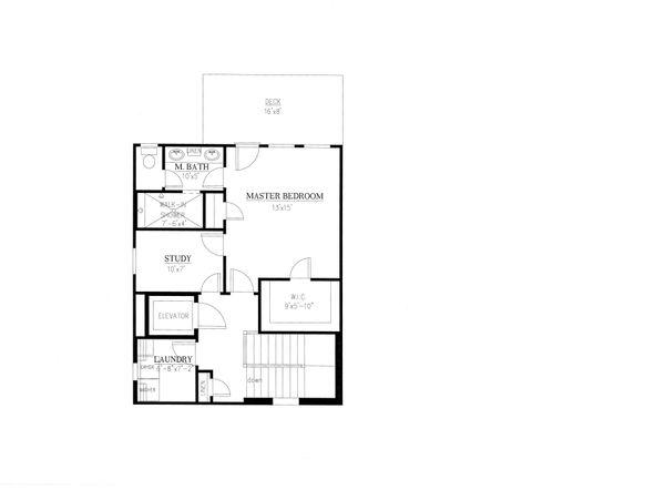 Craftsman Floor Plan - Upper Floor Plan Plan #437-91