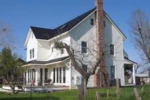 House Plan Design - farmhouse side elevation