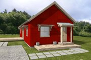 Ranch Style House Plan - 2 Beds 1 Baths 1160 Sq/Ft Plan #497-55 Exterior - Front Elevation
