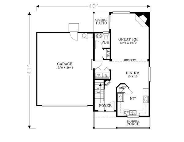 House Plan Design - Craftsman Floor Plan - Main Floor Plan #53-597