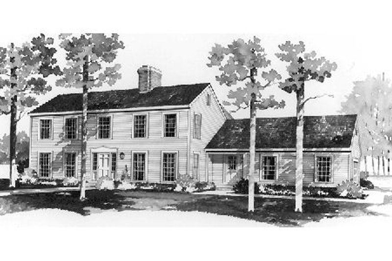 Colonial Exterior - Front Elevation Plan #72-333