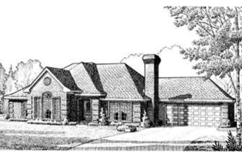 European Exterior - Front Elevation Plan #410-279