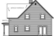 Victorian Style House Plan - 3 Beds 2 Baths 1663 Sq/Ft Plan #23-2093 Exterior - Rear Elevation