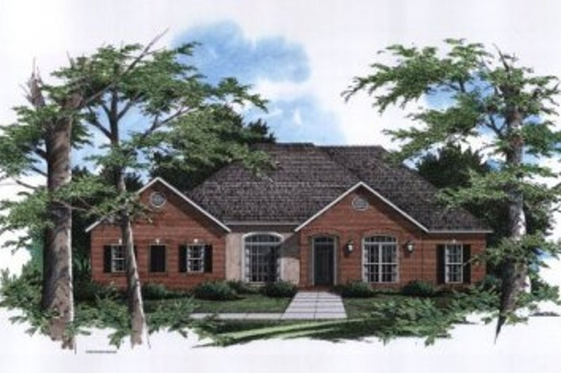 Traditional Exterior - Front Elevation Plan #41-127 - Houseplans.com