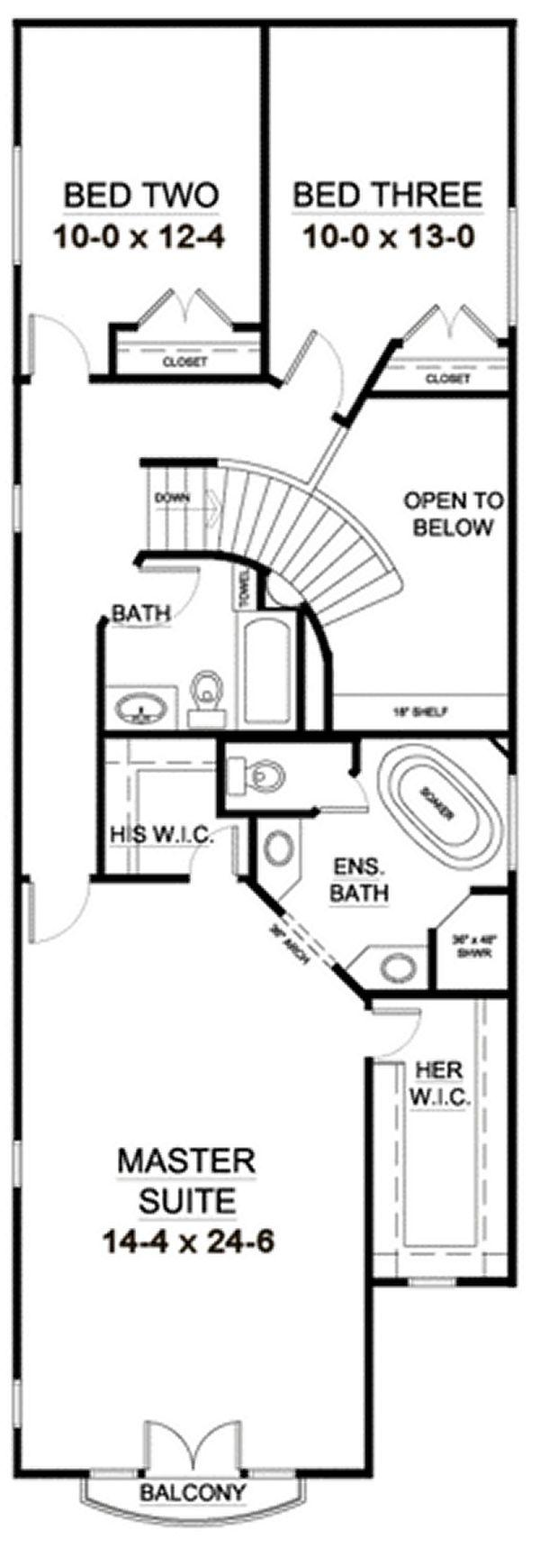 European Floor Plan - Upper Floor Plan #126-227