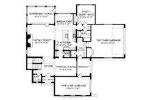 European Floor Plan - Main Floor Plan Plan #413-111