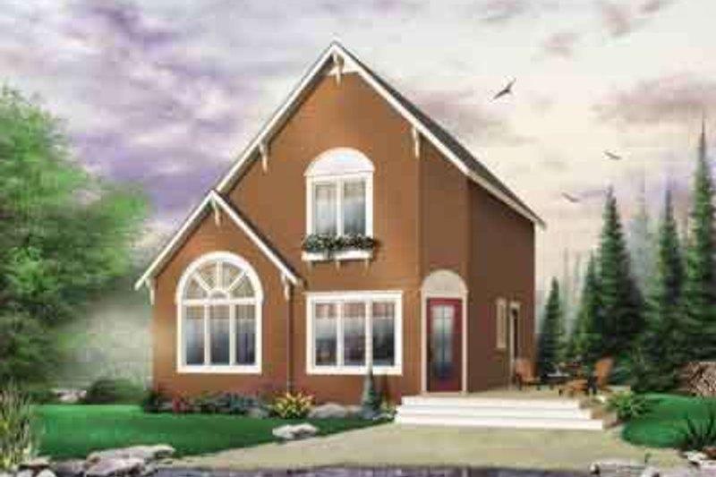 Cottage Exterior - Front Elevation Plan #23-452