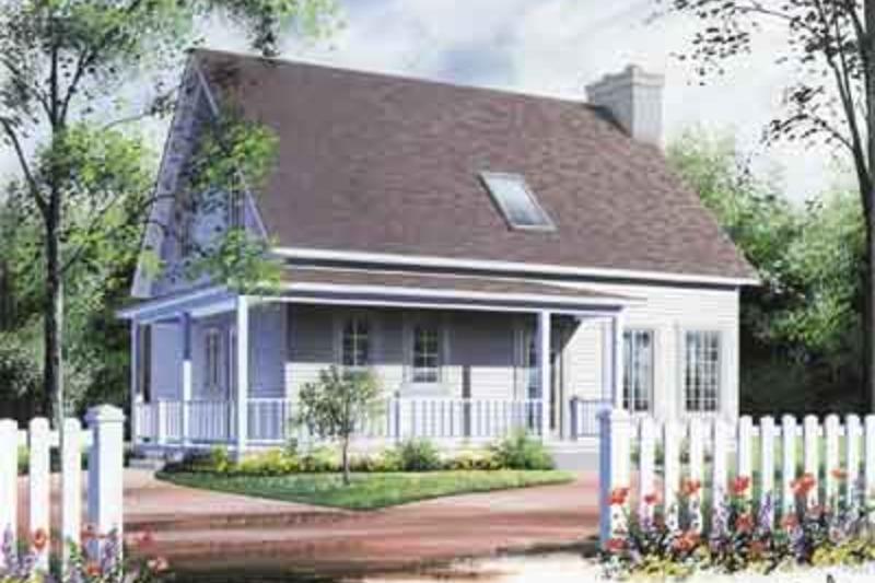 Cottage Exterior - Front Elevation Plan #23-498 - Houseplans.com