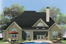Dream House Plan - Traditional Exterior - Rear Elevation Plan #929-822