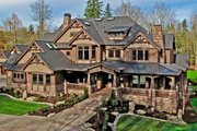 Craftsman Style House Plan - 7 Beds 8.5 Baths 8515 Sq/Ft Plan #132-218 Exterior - Front Elevation