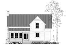 House Plan Design - Farmhouse Exterior - Rear Elevation Plan #430-180