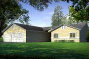 Traditional Style House Plan - 4 Beds 3 Baths 2498 Sq/Ft Plan #1-1465 Exterior - Front Elevation