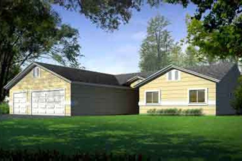 Traditional Style House Plan - 4 Beds 3 Baths 2498 Sq/Ft Plan #1-1465
