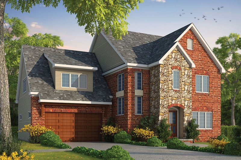 Architectural House Design - Traditional Exterior - Front Elevation Plan #20-2282