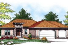 Mediterranean Exterior - Front Elevation Plan #70-928