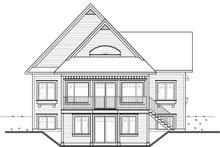 Cottage Exterior - Rear Elevation Plan #23-2318