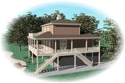 Beach Style House Plan - 3 Beds 2.5 Baths 1731 Sq/Ft Plan #81-13774 Exterior - Other Elevation