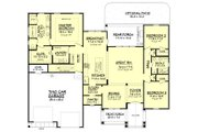 Craftsman Style House Plan - 3 Beds 2 Baths 2073 Sq/Ft Plan #430-157 Floor Plan - Main Floor Plan